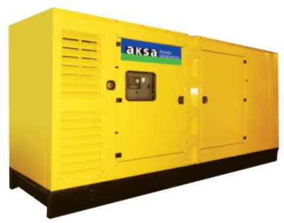 Дизельный генератор Aksa AC-500 в кожухе с АВР