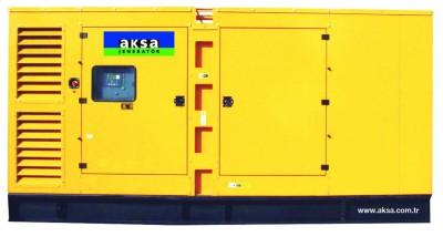 Дизельный генератор Aksa AD-490 в кожухе