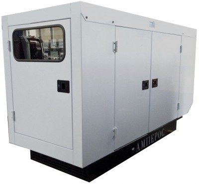 Дизельный генератор АМПЕРОС АД 25-Т400 P (Проф) в кожухе с АВР