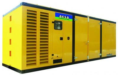 Дизельный генератор Aksa APD1100M в кожухе с АВР