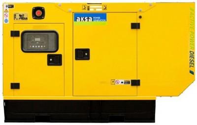 Дизельный генератор Aksa APD33A в кожухе