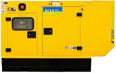 Дизельный генератор Aksa APD70A в кожухе