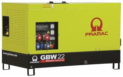 Дизельный генератор Pramac GBW 22 P 1 фаза в кожухе