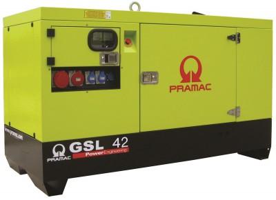 Дизельный генератор Pramac GSL 42 D в кожухе с АВР