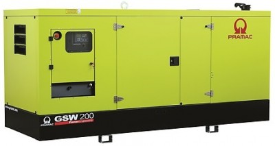 Дизельный генератор Pramac GSW 200 P в кожухе