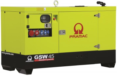 Дизельный генератор Pramac GSW 45 P в кожухе с АВР