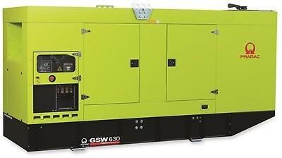 Дизельный генератор Pramac GSW 630DO в кожухе с АВР