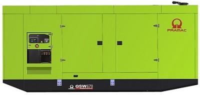 Дизельный генератор Pramac GSW 670 P в кожухе с АВР