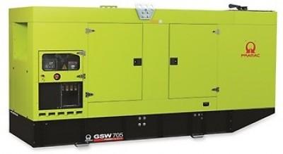 Дизельный генератор Pramac GSW 705DO в кожухе с АВР