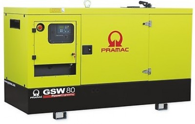 Дизельный генератор Pramac GSW 80 I в кожухе
