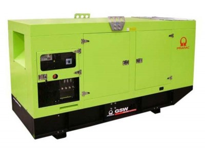 Дизельный генератор Pramac GSW 170 V в кожухе с АВР