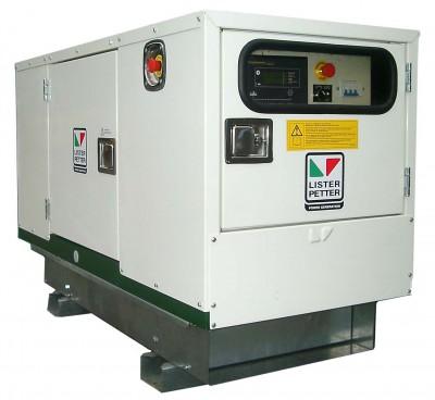 Дизельный генератор Lister Petter LWA 20 3 фазы в кожухе