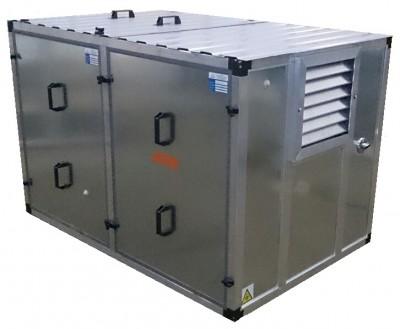 Бензиновый генератор Atlas Copco QEP R14 в контейнере с АВР