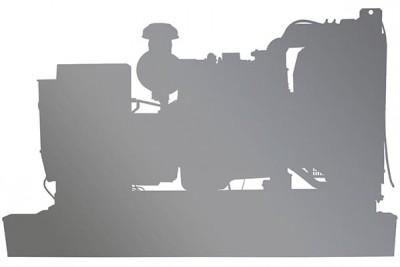 Дизельный генератор ТСС TBd 110SA в кожухе с АВР