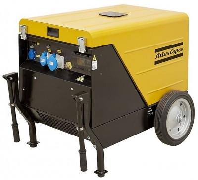 Бензиновый генератор Atlas Copco QEP S12 на шасси